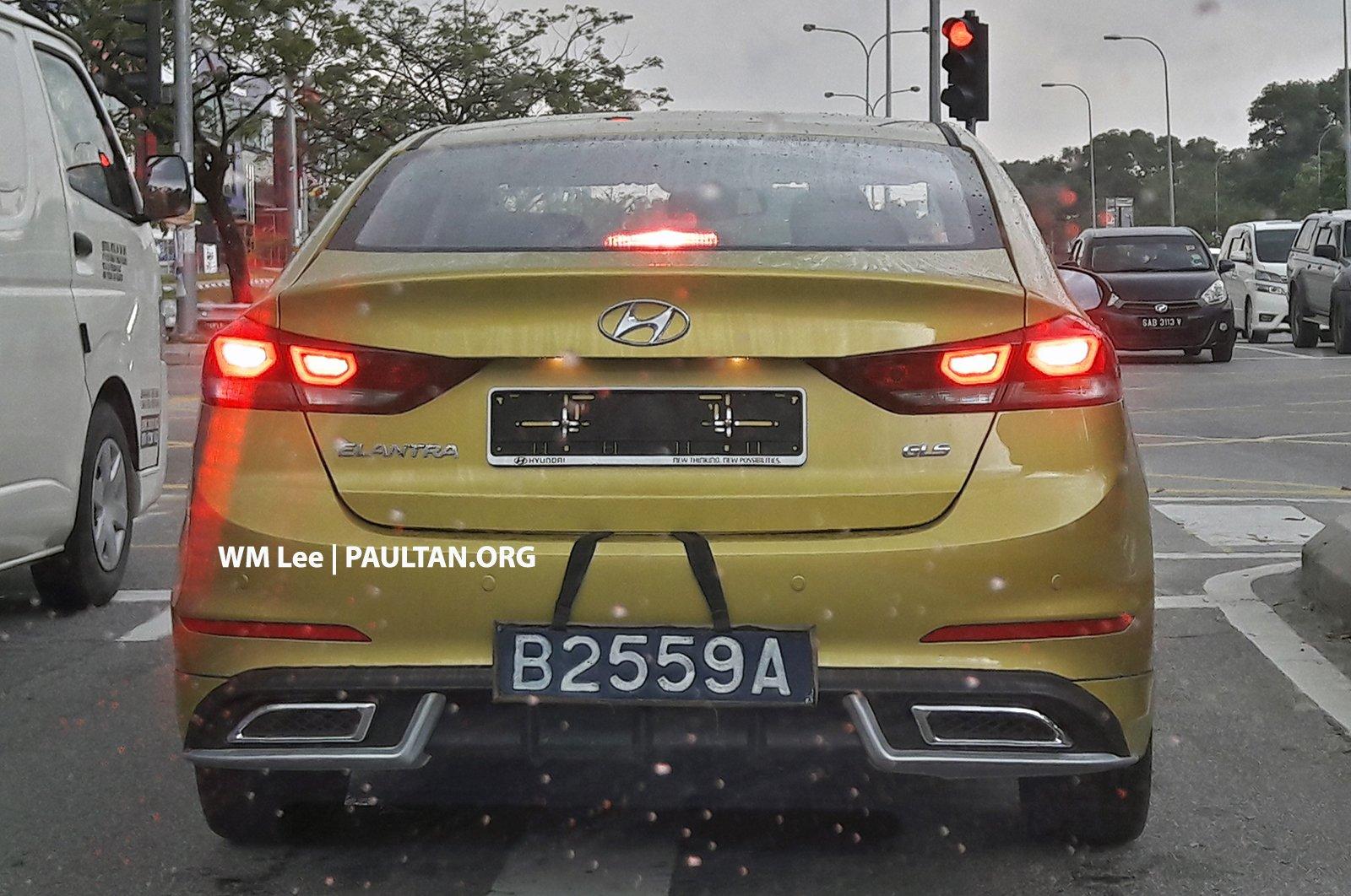New Hyundai Elantra spotted – non-turbo with bodykit Image 654721