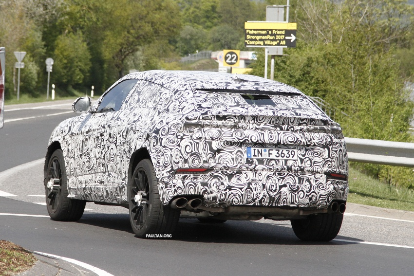 SPIED: Lamborghini Urus heads to the Nurburgring Image #663340