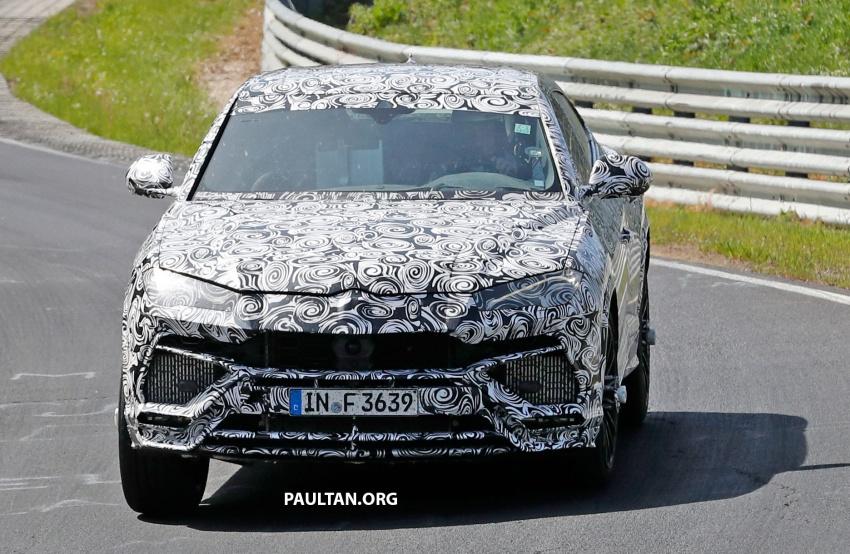 SPIED: Lamborghini Urus heads to the Nurburgring Image #661425