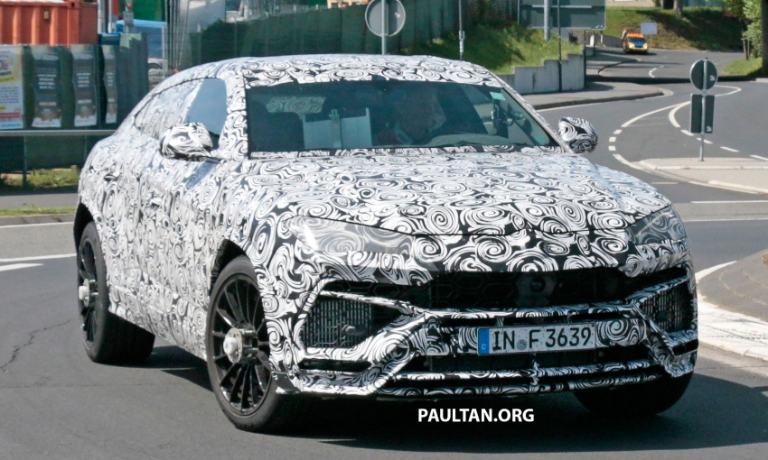 SPIED: Lamborghini Urus heads to the Nurburgring Image #661436