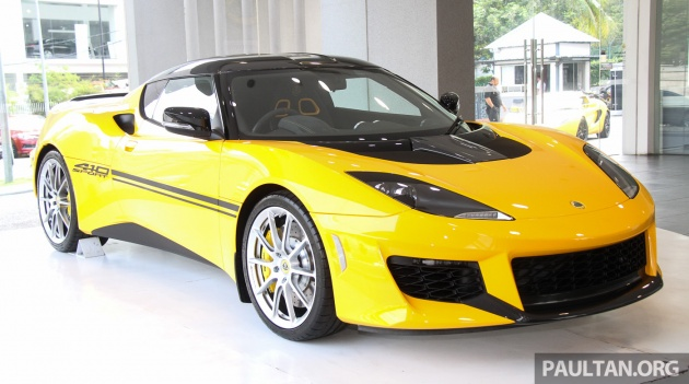 Lotus Evora Sport 410 Launched In Malaysia Fr Rm641k