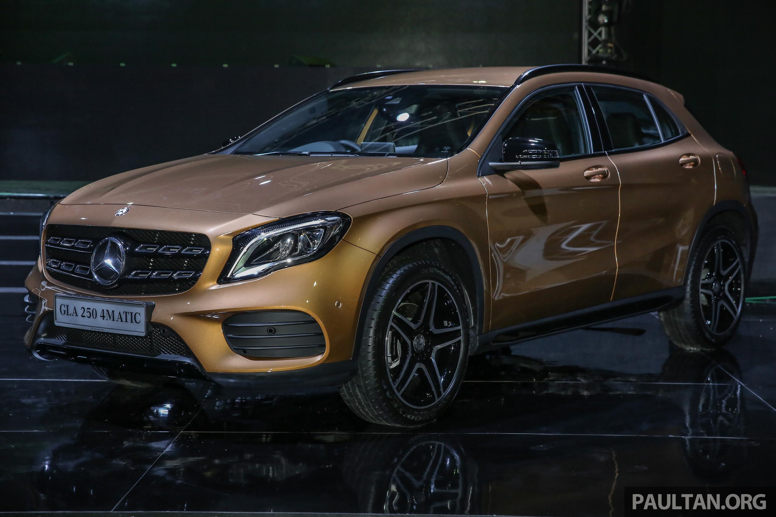 Mercedes benz gla 200 gla 250 4matic facelift turut for Mercedes benz gla 250