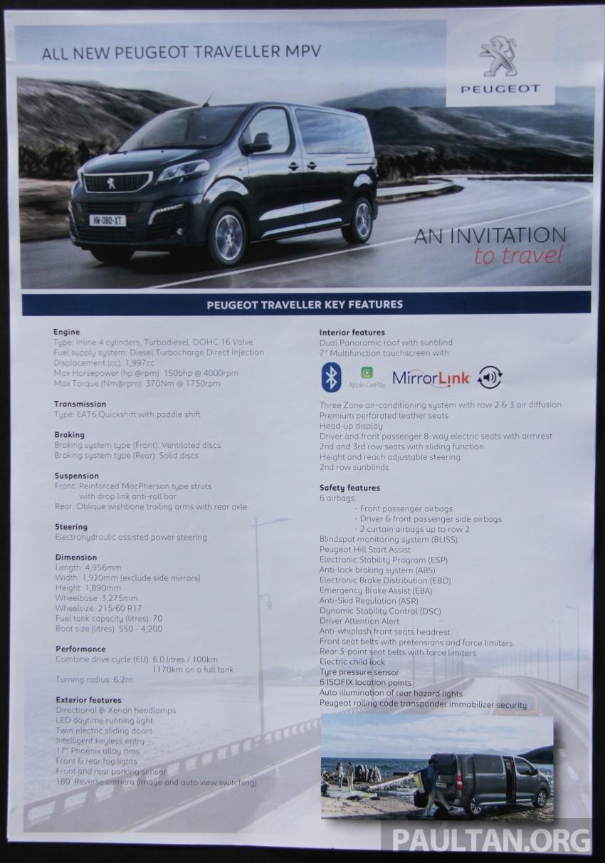 GALERI: Peugeot Traveller tampil di pusat pameran – model Standard enjin 2.0L diesel, lapan tempat duduk Image #663716