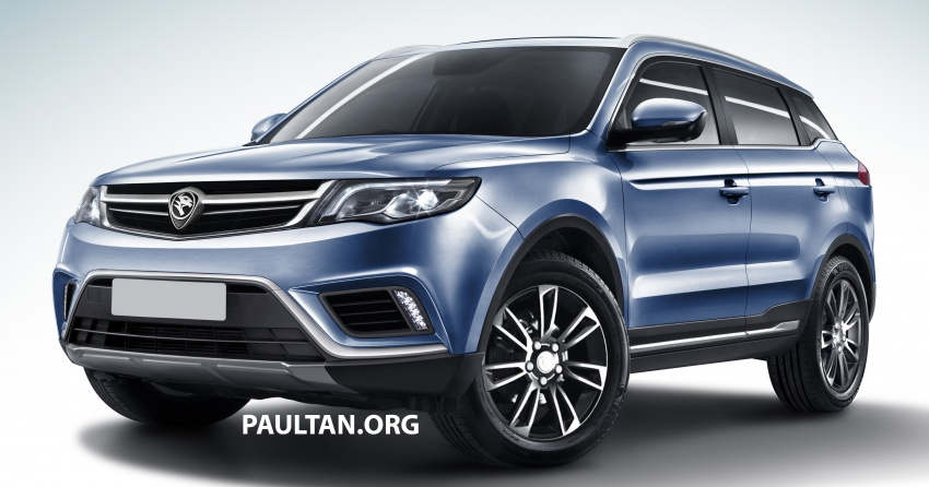 Proton SUV gets rendered based on Geely Boyue Image #663263