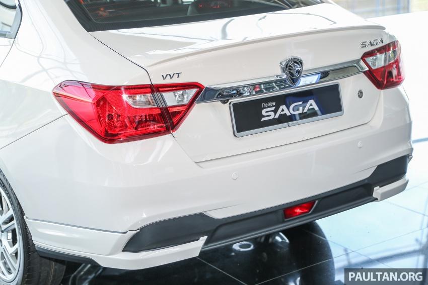 Proton Saga Premium kini didatangkan dengan kit badan opsyenal dan dijual pada harga RM47,688 Image #660219