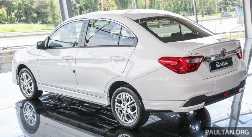 Proton Saga Premium kini didatangkan dengan kit badan opsyenal dan dijual pada harga RM47,688 Image #660208