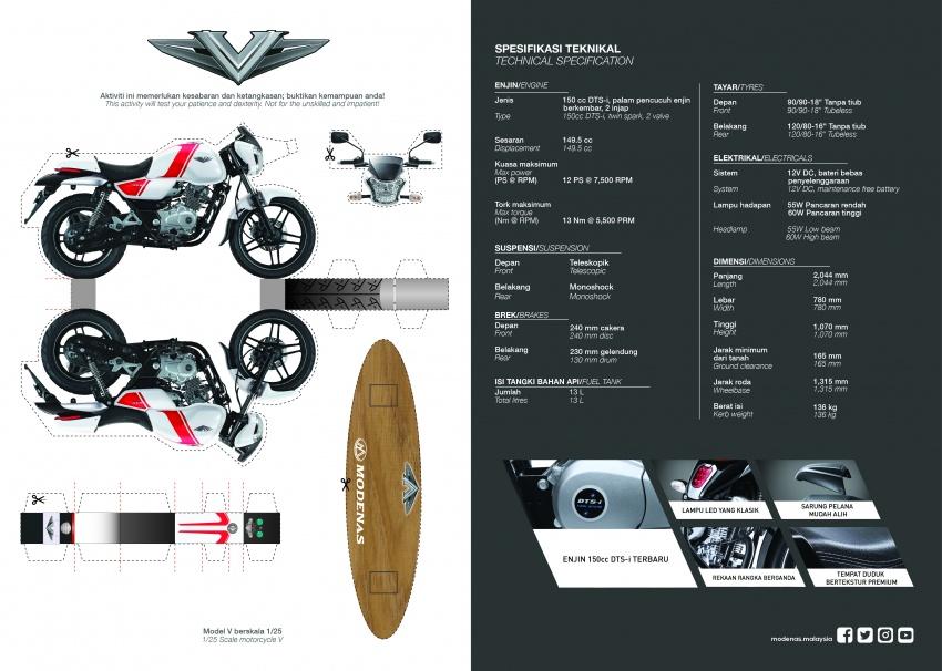 Modenas V15 dilancarkan; 149.5 cc, berharga RM5,989 Image #660708