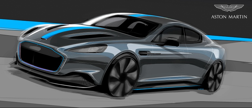 Aston Martin RapidE – brand's first all-electric model confirmed, limited production to begin in 2019 Image #677187