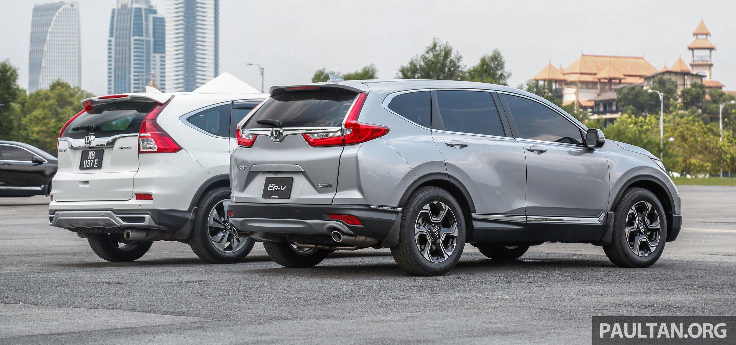 Gallery honda cr v new 1 5l turbo vs old 2 4l for Honda crv 2017 model