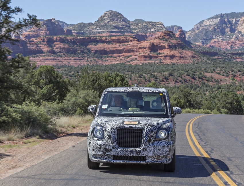 London Taxi Company TX5 undergoes desert testing Image #667871