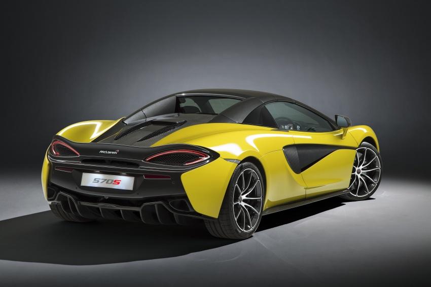McLaren 570S Spider debuts – 0-100 km/h in 3.2 secs Image #672791