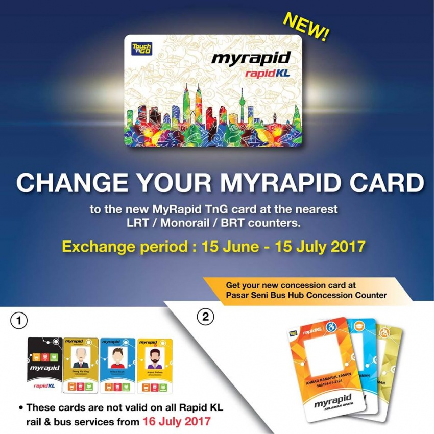Change MyRapid card to the new MyRapid TnG – free, balance transferred, old cards not valid after July 15 Image #672371