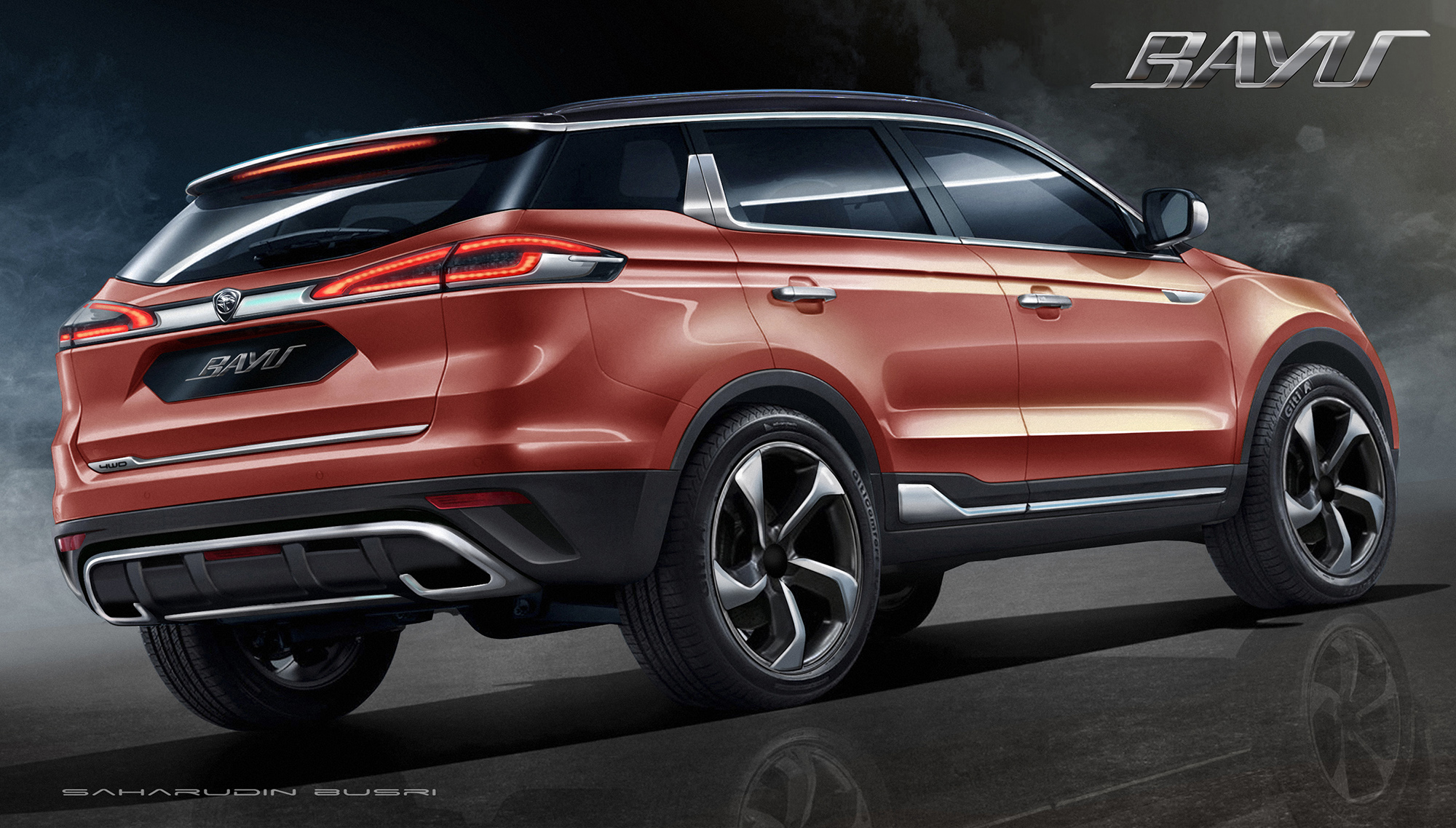 Proton Bayu A Geely Based Suv Design By Mimos