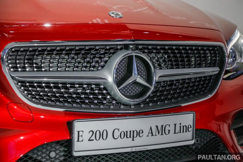 Mercedes-Benz E-Class Coupe kini dilancarkan di Malaysia – tiga varian, harga dari RM436k Image #689358