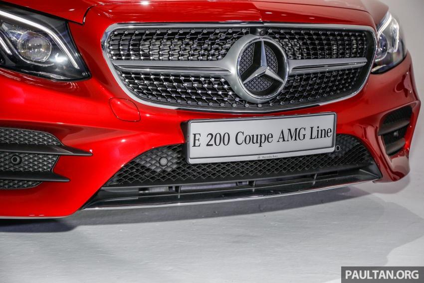 Mercedes-Benz E-Class Coupe kini dilancarkan di Malaysia – tiga varian, harga dari RM436k Image #689359