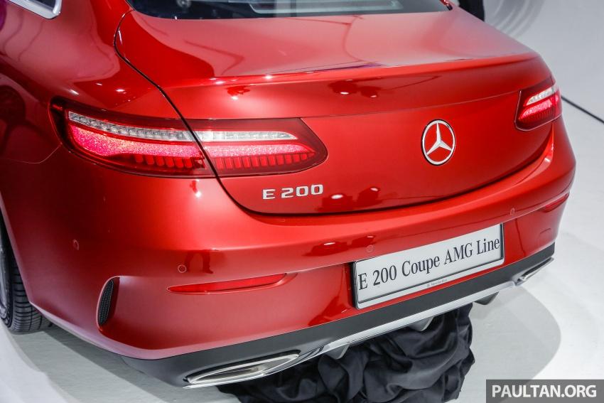 Mercedes-Benz E-Class Coupe kini dilancarkan di Malaysia – tiga varian, harga dari RM436k Image #689367
