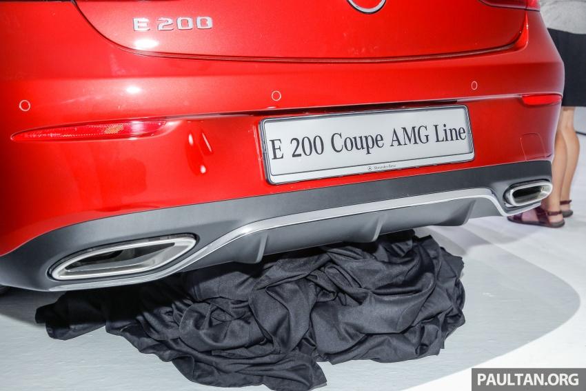 Mercedes-Benz E-Class Coupe kini dilancarkan di Malaysia – tiga varian, harga dari RM436k Image #689372
