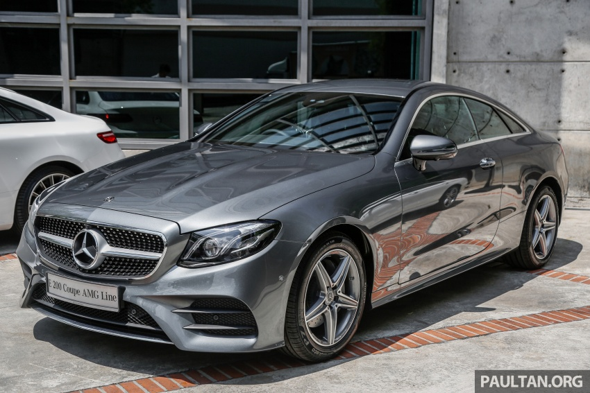 Mercedes-Benz E-Class Coupe kini dilancarkan di Malaysia – tiga varian, harga dari RM436k Image #689376