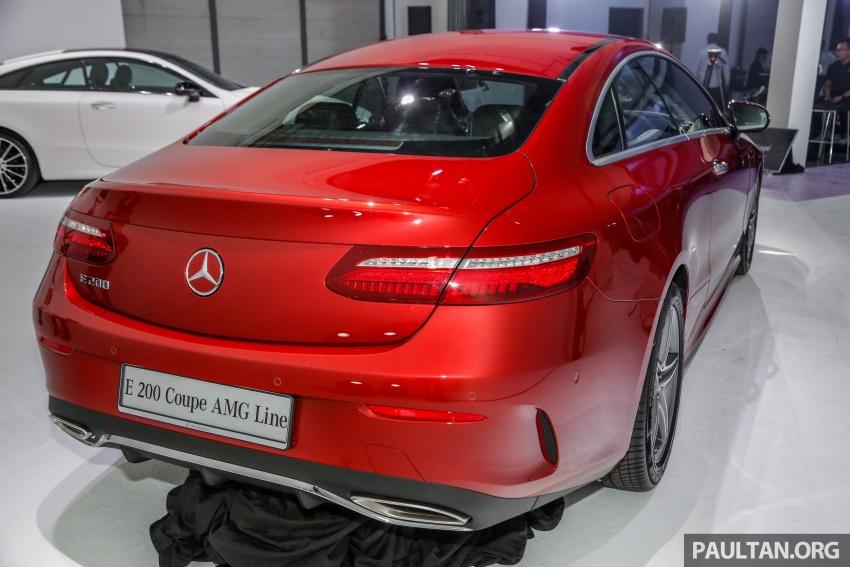 Mercedes-Benz E-Class Coupe kini dilancarkan di Malaysia – tiga varian, harga dari RM436k Image #689351