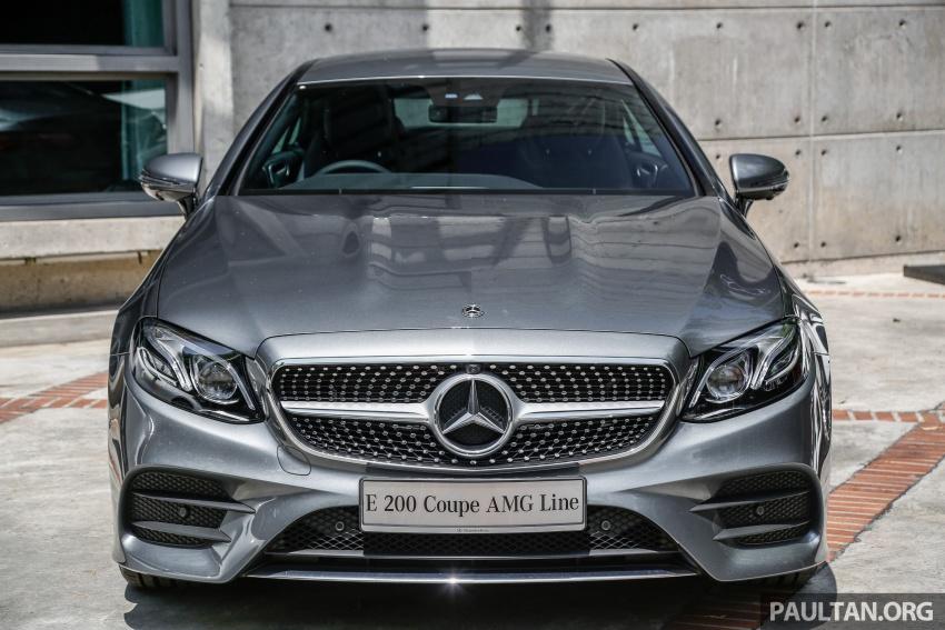 Mercedes-Benz E-Class Coupe kini dilancarkan di Malaysia – tiga varian, harga dari RM436k Image #689379