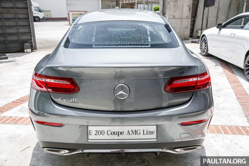 Mercedes-Benz E-Class Coupe kini dilancarkan di Malaysia – tiga varian, harga dari RM436k Image #689380