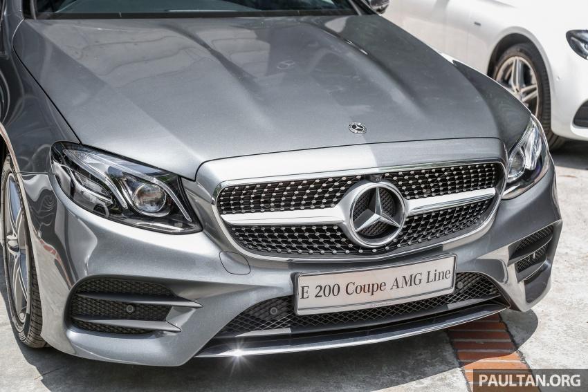 Mercedes-Benz E-Class Coupe kini dilancarkan di Malaysia – tiga varian, harga dari RM436k Image #689243
