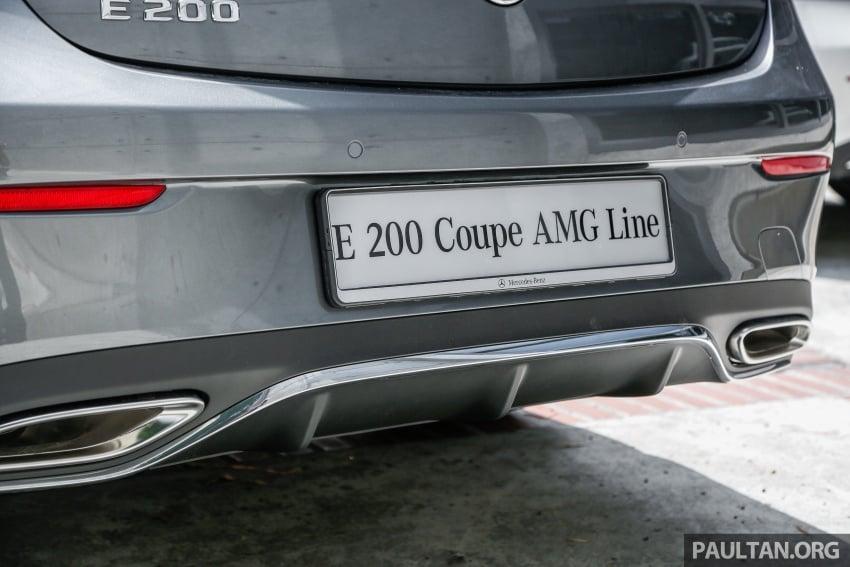 Mercedes-Benz E-Class Coupe kini dilancarkan di Malaysia – tiga varian, harga dari RM436k Image #689267