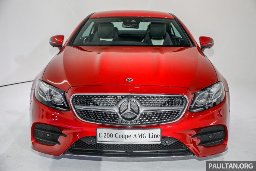 Mercedes-Benz E-Class Coupe kini dilancarkan di Malaysia – tiga varian, harga dari RM436k Image #689354