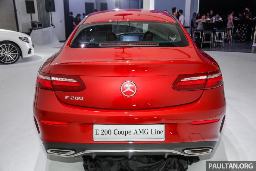 Mercedes-Benz E-Class Coupe kini dilancarkan di Malaysia – tiga varian, harga dari RM436k Image #689355