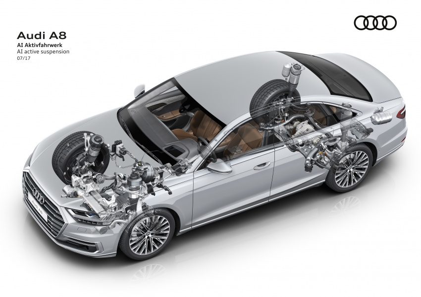 2018 Audi A8 unveiled – new tech, standard mild hybrid system, world-first Level 3 autonomous driving Image #681542