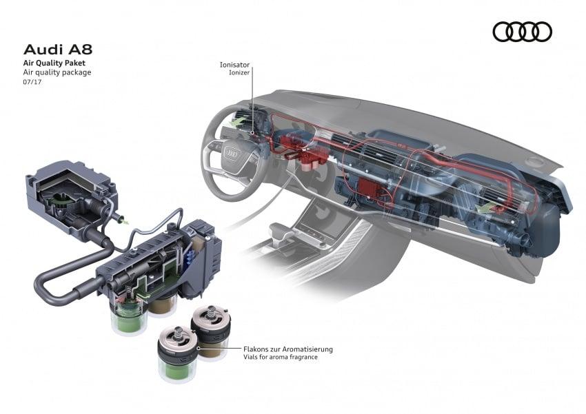 2018 Audi A8 unveiled – new tech, standard mild hybrid system, world-first Level 3 autonomous driving Image #681574