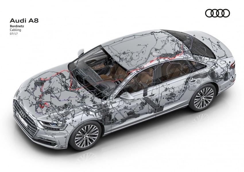 2018 Audi A8 unveiled – new tech, standard mild hybrid system, world-first Level 3 autonomous driving Image #681578