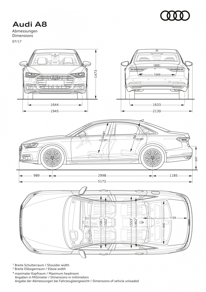 2018 Audi A8 unveiled – new tech, standard mild hybrid system, world-first Level 3 autonomous driving Image #681579