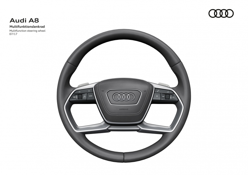 2018 Audi A8 unveiled – new tech, standard mild hybrid system, world-first Level 3 autonomous driving Image #681580