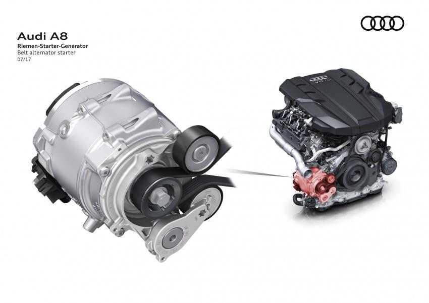 2018 Audi A8 unveiled – new tech, standard mild hybrid system, world-first Level 3 autonomous driving Image #681581