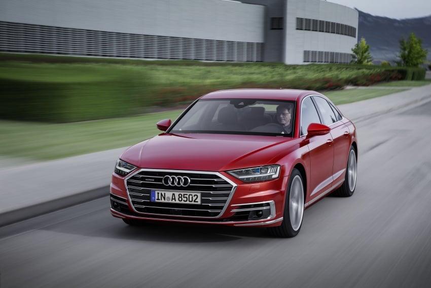 2018 Audi A8 unveiled – new tech, standard mild hybrid system, world-first Level 3 autonomous driving Image #681613
