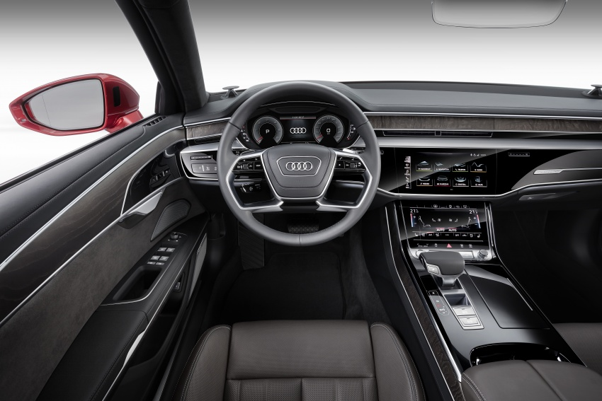 2018 Audi A8 unveiled – new tech, standard mild hybrid system, world-first Level 3 autonomous driving Image #681615