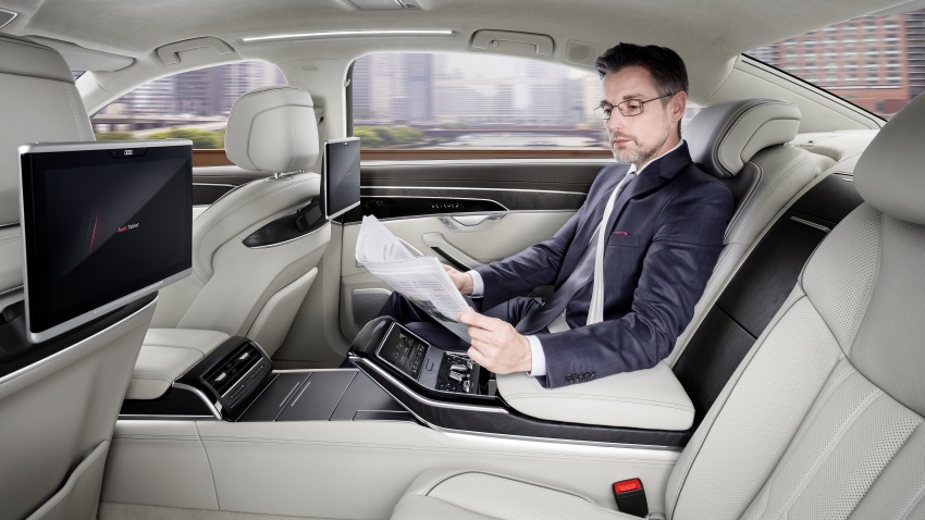 2018 Audi A8 unveiled – new tech, standard mild hybrid system, world-first Level 3 autonomous driving Image #681621