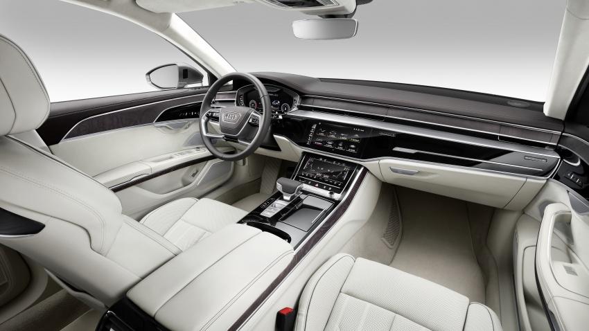 2018 Audi A8 unveiled – new tech, standard mild hybrid system, world-first Level 3 autonomous driving Image #681622