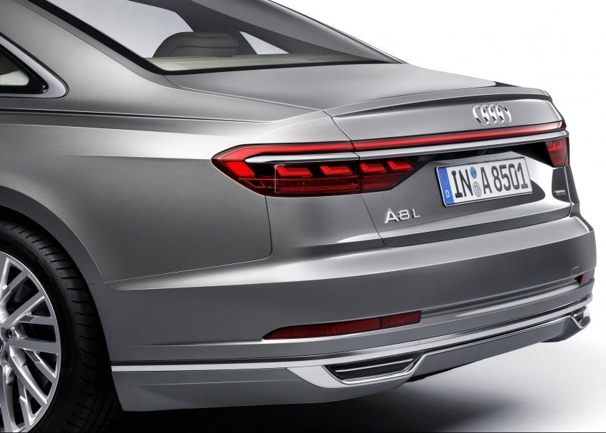 2018 Audi A8 unveiled – new tech, standard mild hybrid system, world-first Level 3 autonomous driving Image #681624