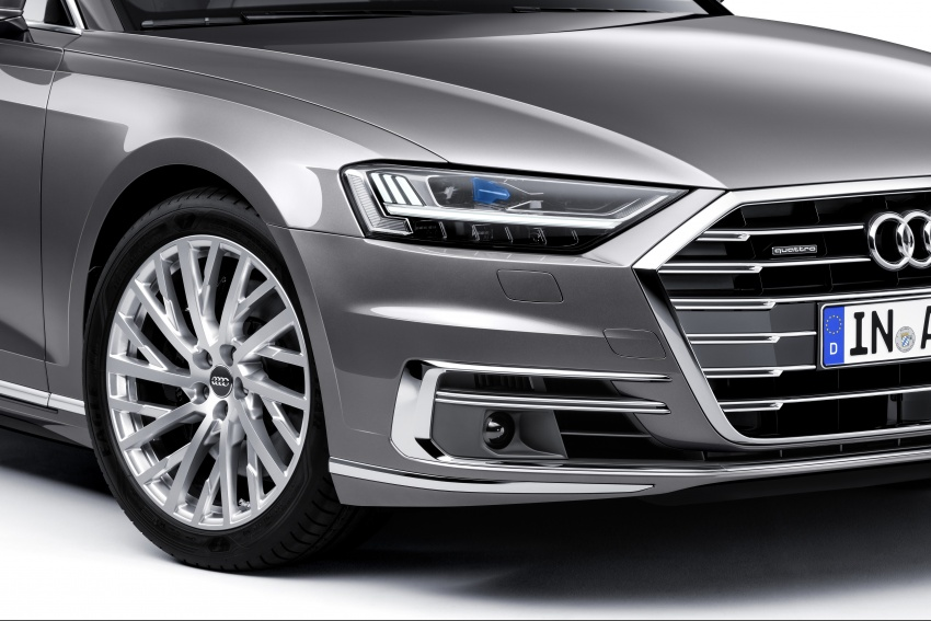 2018 Audi A8 unveiled – new tech, standard mild hybrid system, world-first Level 3 autonomous driving Image #681625
