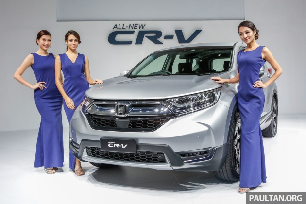 Honda Malaysia Has Officially Introduced The 2017 Cr V In Country And Fifth Generation Rw Arrives Here Four Variant Forms Three Of Which