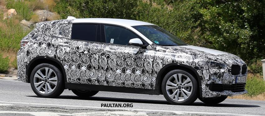 SPYSHOTS: BMW X2 shows more details, incl interior Image #684858