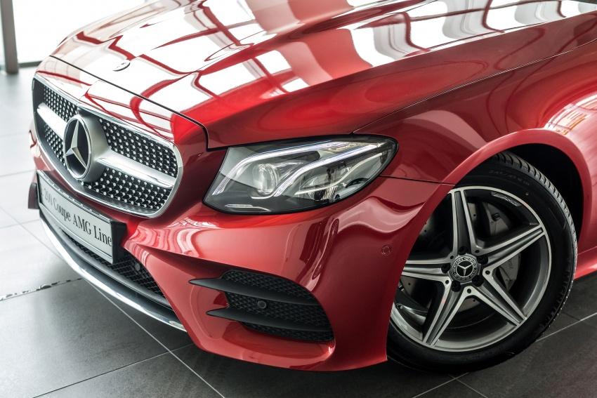Mercedes-Benz E-Class Coupe kini dilancarkan di Malaysia – tiga varian, harga dari RM436k Image #688754