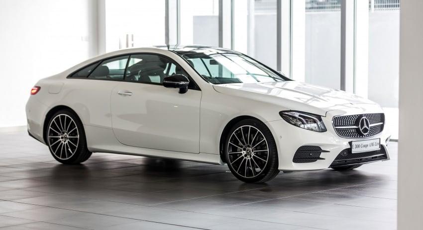 Mercedes-Benz E-Class Coupe kini dilancarkan di Malaysia – tiga varian, harga dari RM436k Image #688939