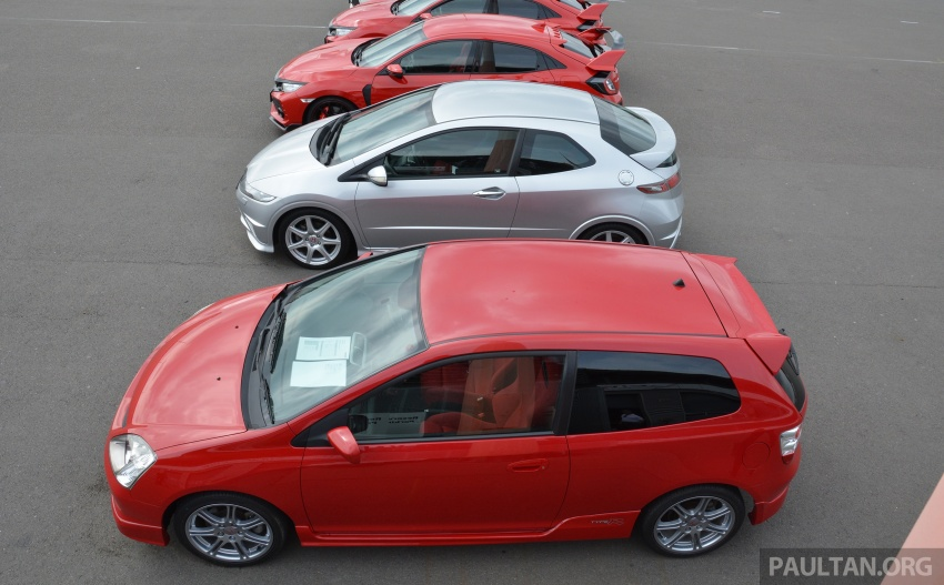 GALLERY: Honda Civic Type R – FWD King of the Ring meets past hatchback masters EP3, FN2 and FK2 Image #678897