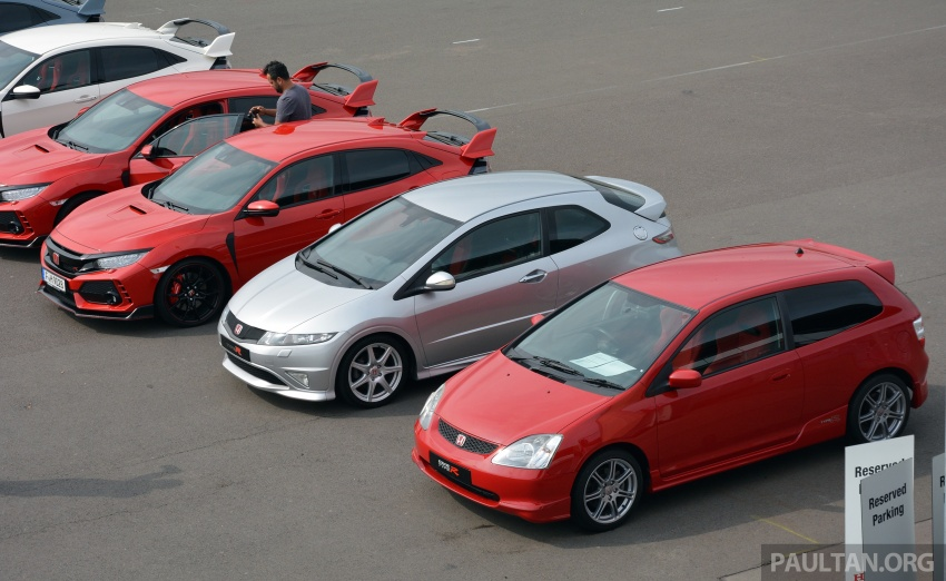 GALLERY: Honda Civic Type R – FWD King of the Ring meets past hatchback masters EP3, FN2 and FK2 Image #678898