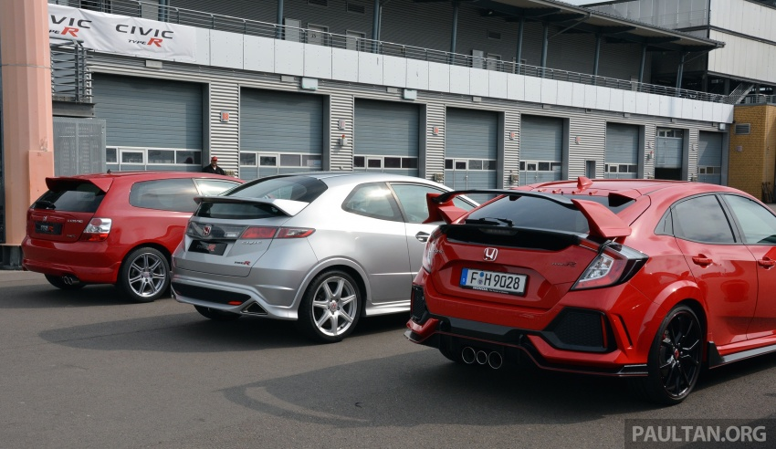 GALLERY: Honda Civic Type R – FWD King of the Ring meets past hatchback masters EP3, FN2 and FK2 Image #678900