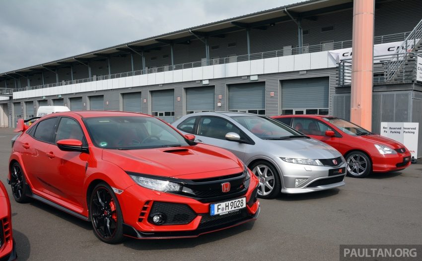 GALLERY: Honda Civic Type R – FWD King of the Ring meets past hatchback masters EP3, FN2 and FK2 Image #678901