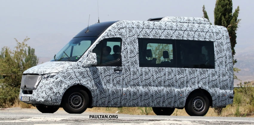 SPYSHOTS: 2018 Mercedes-Benz Sprinter van spotted, full-electric variants set to be operational by 2020 Image #684769